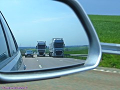 DAF XF the old meets the new (Trucks and nature) Tags: new old summer truck 5 transport f10 106 lorry bmw fields series vs nl 105 touring canola vrachtwagen daf lkw 4x2 xf nvo paccar