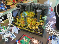 MOAH Winter Show 2014-2015 (115) (Last pass) (origamiguy1971) Tags: layout town lego mosaic spiderman trains superman batman palo alto ghostbusters moc walle moah baylug esseltine origamiguy origamiguy1971