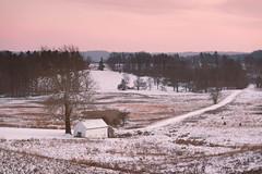 Winter Scene at Valley Forge (Garen M.) Tags: winter sunset sky snow weather landscape dusk valleyforge nikkor85mm14 nikond800 pwlandscape
