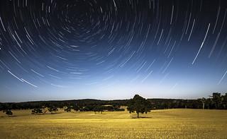 Outback Star Trails - Karnet, Western Australia