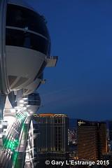 dusk over Las Vegas from the Highroller (garylestrangephotography) Tags: feet wheel night landscape hotel evening scenery lasvegas dusk platform scenic strip gondola tall wynn palazzo sincity tallest 550 highroller highview garylestrangephotography