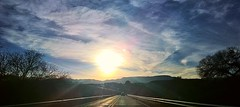 CottonwoodSundown (Sedona Clearing House) Tags: road sunset sky mountains west clouds driving shine view az cottonwood distant cornville