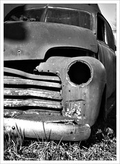 Fixer Upper  (52/365) (Free 2 Be) Tags: old bw monochrome truck monochromatic photoaday wreck derelict 52 2015 project365 365days dailypost 52365 365daychallenge postaday day52 day52365 365the2015edition 3652015 21feb15