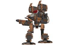 """Terrum"" 55ton Medium Mech (-Lee Barton-) Tags: lego military futuristic ldd missilelauncher legomech energyweapons terrum"