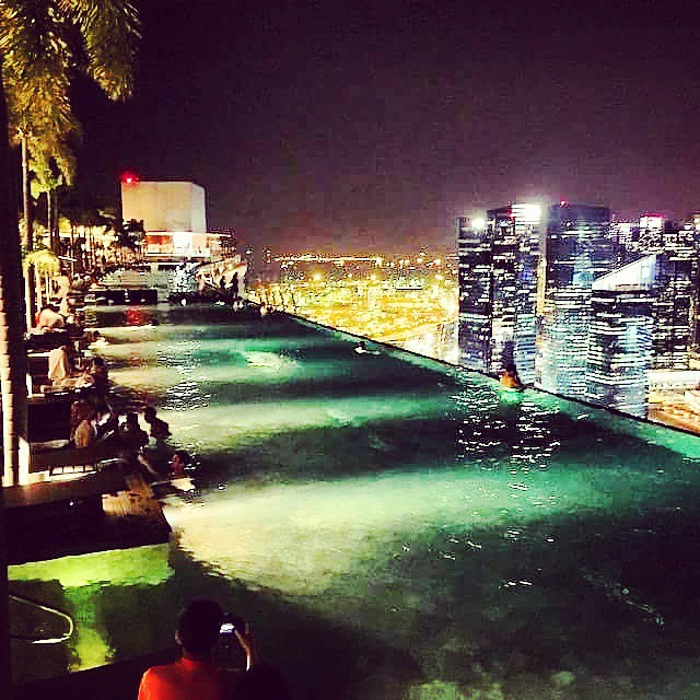 Luxury Rooftop Pool  #Audio #Luxury #pool #sunset #Spa #swim #Summer #swimming #sun #Singapore #Music #Perfect #Music