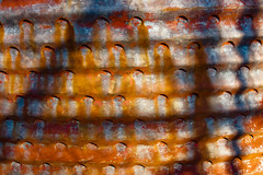 CV855 Corn Crib (listentoreason) Tags: usa texture metal america canon geotagged newjersey rust pattern unitedstates decay geocoded favorites places material corrosion mercercounty ef28135mmf3556isusm score25 mercermeadows