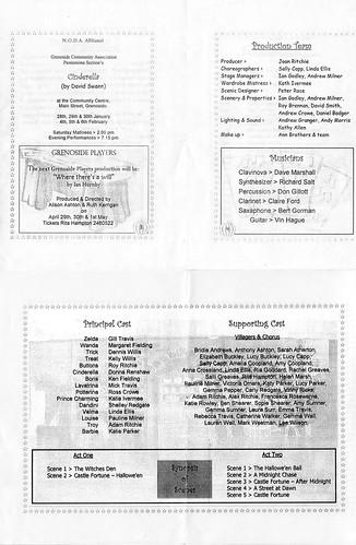 1999 Cinderella 00 Programme