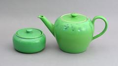 Ruskin teapot, 1906 (robmcrorie) Tags: west green ceramic design high birmingham tea crafts arts william pot glaze taylor pottery teapot souffle ruskin fired lustre reduction smethwick howson olbury