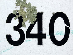 340 (chrisinplymouth) Tags: uk england sign plymouth number devon lichen 340 numerals cw69x cw69n