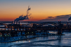 Hell Gate Sunrise (rjdibella) Tags: nyc newyorkcity winter usa snow newyork ice sunrise yorkville uppereastside triborobridge hellgatebridge randallsisland triboroughbridge 2015 throgsneckbridge whitestonebridge rfkbridge robertfkennedybridge