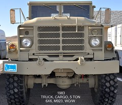 (1983)  Truck, Cargo, 5 Ton, 6X6, M923, WO/W (without winch) (Wing attack Plan R) Tags: 1983 2015 5tontruck amgeneral militarytruck m923