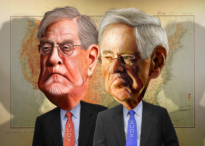 Charles and David Koch - The Koch Brothe by DonkeyHotey, on Flickr