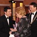 Gala Dinner Minister Donohoe greets Prof Mary McAleese, with Stephen McNally