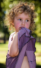 She never heard of Shirley Temple (Clever Poet) Tags: brown girl photography big eyes child with little bokeh curls blond lovely pouting