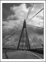 Uddevallabroen (4) (frode skjold) Tags: uddevalla uddevallabroen bridge blackwhite bw monochrome photoshop14 fujifilmx20 sweden sverige