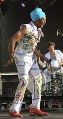 Antibalas lead vocalist & percussionist Amayo (j-No) Tags: world africa nyc music brooklyn concert place african manhattan group performance band center brookfield hudson lower fest financial ensemble lowdown rhythm antibalas fela afrobeat kuti