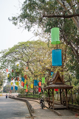 Lanternes de rue (Ye-Zu) Tags: voyage street trip lanterne rue lampion thailande lampang worldtour tourdumonde