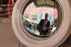 Mirrors in Venice (Crumblin Down) Tags: venice vacation italy holiday reflection sergio sign shop del john ceramic paul star mirror la george europe italia harrison mask masks pottery beatles gondola lennon maker venezia ringo mccartney starr ferro trattoria maskmaker bottega forcola boldrin mascareri