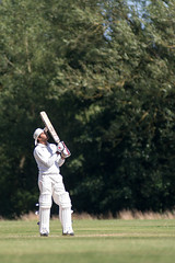 Dismissed (Willers1404) Tags: cricket warwick sunny sport batting india six four boundary dismissed wicket cryfield monochrome nikon 80200 champions victory game drive