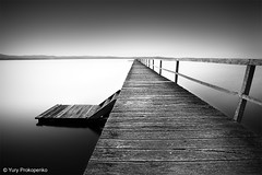 Long Jetty (renatonovi1) Tags: longjetty tuggerahlake centralcoast nsw australia jetty pier lake landscape bw blackandwhite