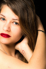 Face (petia.balabanova(tnx for +1.000.000 views)) Tags: face portrait ritratto eyes 85mm nikond800 indoor color girl glamour fashion blackbackground
