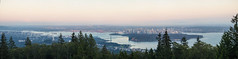 Vancouver at sunset (Cyrielle Beaubois) Tags: city travel sunset panorama skyline vancouver bc view britishcolumbia 2016 canoneos5dmarkii cyriellebeaubois