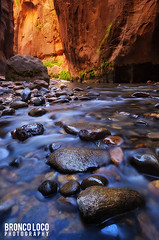 Half Way (Bronco Loco) Tags: virginriver zionnationalpark virginnarrows utah stgeorge southernutah sandstone