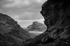 Iceland (SpechtPhotodesign) Tags: bw mountains clouds landscape island blackwhite iceland rocks dramatic textures highland sw landschaft atmosphre atmospheric rsmrk thorsmork hochland dramatisch thorsmrk landschaftsfotograf frankenfotografcom