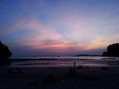 Sunset (Starsi warsi) Tags: sunset hot water sea thailand rocks beach sandybeach white vacation people enjoy joy beauty boats outdoor