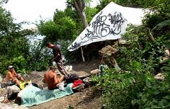 Pierre's new digs (jwc 3o2) Tags: ottawariver hull graffiti never drone