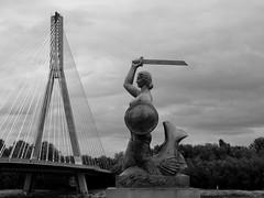 A siren (Aga Dzicio) Tags: warsaw warszawa wisa vistula vistulariver river siren syrenka sword shield bridge most sculpture rzeba