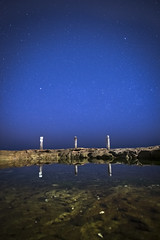 The Rock Pool (Timothy M Roberts) Tags: astrophotography nikon australia coogee rockpool relfection blue azul