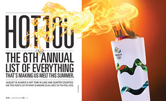 spread :: Hot 100 :: 0816 (jamie ezra mark) Tags: jamieezramark jamiemark lakesumterstyle magazinedesign olympics torch olympictorch feature design magazinespread hotissue hot100 hot 100