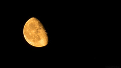 Rising Moon (Jannik K) Tags: moon rise mond mondaufgang samsung nx1 black krater meteoriten stars sterne nacht night midnight twop