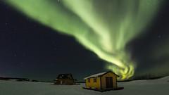 House Boat and Aurora (Jason Simpson) Tags: auroraborealis aurora canada yellowknife winter green ice northwestterritories northernlights