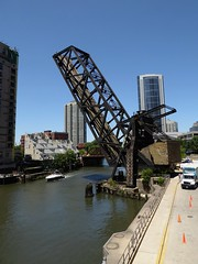 Chicago, Chicago River near Wolf Point, The Bridge Remnant Forever Frozen in Time (Mary Warren (7.3+ Million Views)) Tags: chicagoriver wolfpoint architecture building skyscrapers urban iron metal bridge chicago