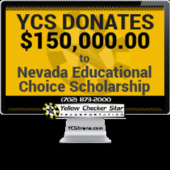 Yellow Checker Star Donates $150,000 of Modified Business Tax to Nevada Educational Choice Scholarship Benefiting Local Students (Yellow Checker Star Transportation) Tags: cab in las vegas taxi ycs trans ycstranscom