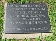 Hjemkomst Center Celtic Cross Marker (Moorhead, Minnesota) (courthouselover) Tags: minnesota mn hjemkomstcenter claycounty moorhead norwegiancommunitiesintheunitedstates roadsideamerica northamerica unitedstates us
