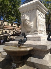 Fontaine Saint Louis, Aigues-Mortes, Hrault, France (Marylou1504) Tags: extrieur fontaine architecture sculpture france ciel bleu languedoc herault midi sud eau place ville