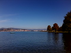Sunny day in Ohrid - October 2016 (nazmije.d) Tags: ohridlake ohridskoezero ohrid fall water lake beautiful sky blue tree leafs kajce esen pejsaz