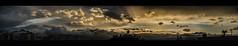 Twenty minutes before (Melissa Maples) Tags: antalya turkey trkiye asia  nikon d5100   nikkor afs 18200mm f3556g 18200mmf3556g vr widescreen letterbox panoramic panorama autumn watertanks rooftops evening dusk sundown sunset