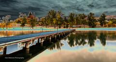 Kal Lake Pier (Glen Eldstrom) Tags: vernon britishcolumbia kalamalkalake okanagan okanaganvalley trees beach water lake darkclouds pier landscapelovers landscape
