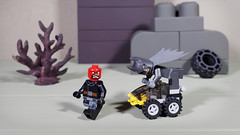 Batman chasing Red Skull (Busted.Knuckles) Tags: home toys lego minifigures red skull batman olympusomdm10mkii dxoopticspro11