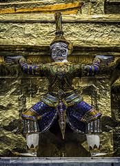 A Shimmering Giant (Baron Reznik) Tags: asia asien bangkok blue buddhism buddhist colorimage decadence demon gold grandpalace guardian kingdomofthailand krungthepmahanakhon opulent phraborommaharatchawang phranakhondistrict prasat religion siam spirit temple templeoftheemeraldbuddha thailand vertical wat watphrakaew watphrasirattanasatsadaram yak yaksa yaksha canon24105mmf4lis