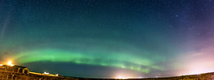 Run whilst you can now that I have had a taste (chilledvondub) Tags: northernlights aroraborealis iceland southernpenisula reykjanesbaer reykjavik 2016 october travel wideangle lowlight longexposure nightsky stars