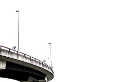 ... << .. (Lanpernas 4.0) Tags: curva autopista autoroute riberas loiola urbanite farolas unacurvaalaizquierda