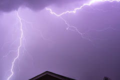Lightning Over the Garage (slworking2) Tags: ramona california unitedstates us lightning thunderstorm sandiego weather