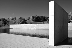 The Clark / Reflecting Pool (Images George Rex) Tags: williamstown ma usa monolith bw theclark sterlingfrancineclarkartinstitute architecture tadaoando photobygeorgerex imagesgeorgerex newengland reflectingpool marble pool landscape gensler reedhilderbrand