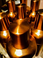 Copper Warmth (Thad Zajdowicz) Tags: 366 365 indoor cocktailshakers inside pasadena california zajdowicz blur outoffocus cellphone abstract photoshopexpress availablelight concept creativecommons freeuse attribution copper warm color colour motorola droid turbo mobile smartphone cameraphone android shapes lines curves light shadow