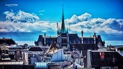 Lausanne (Jean McLane) Tags: lausanne cathdrale bleu blue city travel hdr sony